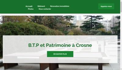Site internet de Btp & Patrimoine