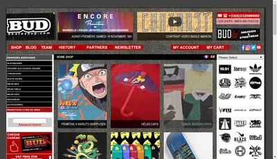 Site internet de Bud Skateshop