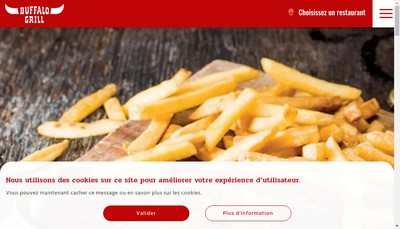 Site internet de Buffalo Grill