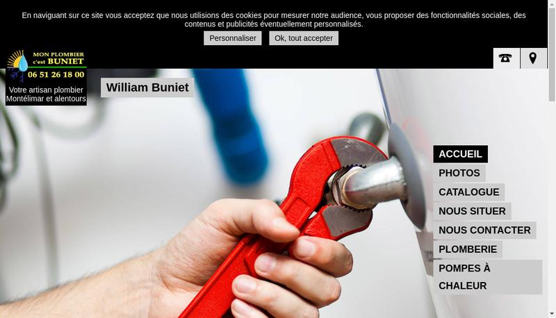 Capture d'écran du site de William Buniet