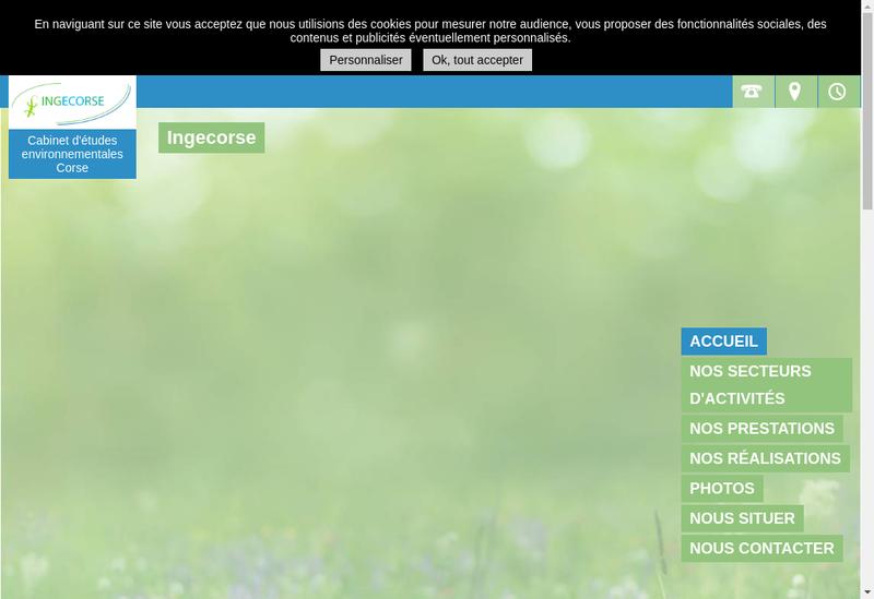 Capture d'écran du site de Ingecorse