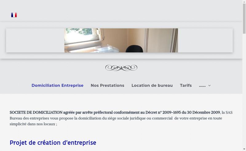 Capture d'écran du site de Bureau des Entreprises
