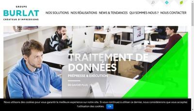 Site internet de Groupe Burlat