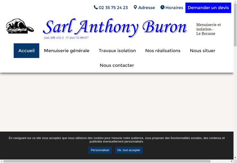Capture d'écran du site de Anthony Buron