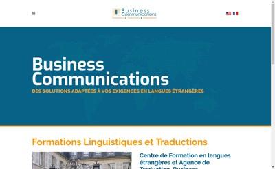 Site internet de Business Communications