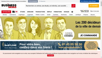 Site internet de Business Immo