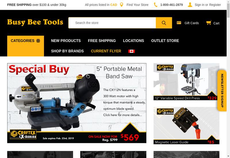 Capture d'écran du site de Busy Bee
