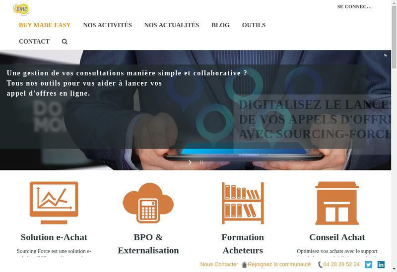 Capture d'écran du site de Bme Consulting
