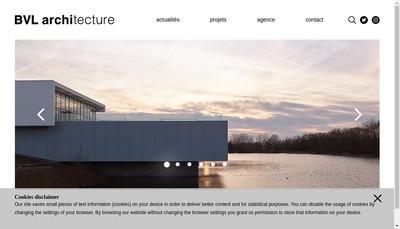 Site internet de Bvl Architecture
