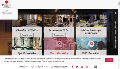Site internet de Le Grand Monarque-Bar le Madrigal