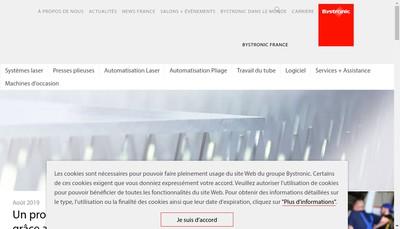 Site internet de Bystronic France