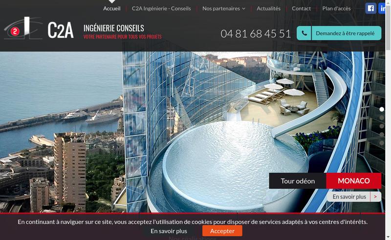 Capture d'écran du site de C2A