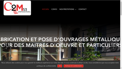 Capture d'écran du site de SARL Gion - Croissant