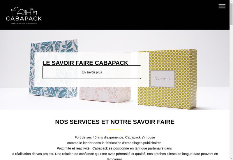 Capture d'écran du site de Bag Diffusion