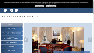 Capture d'écran du site de Francis Arragon