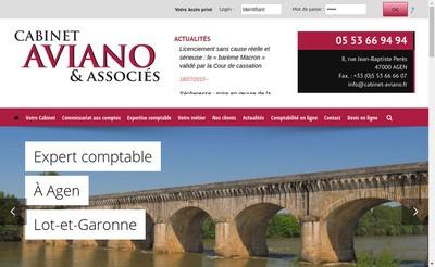 Site internet de Cabinet Aviano et Associes
