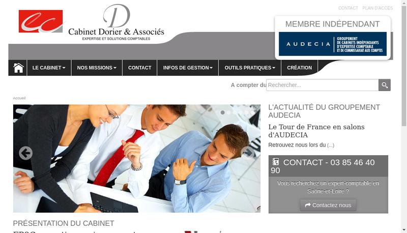 Capture d'écran du site de Cabinet Dorier et Associes