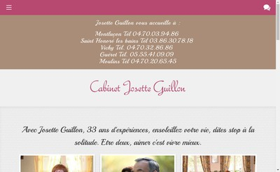 Site internet de Cabinet Josette Guillon