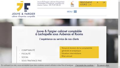 Capture d'écran du site de Jouve Fargier
