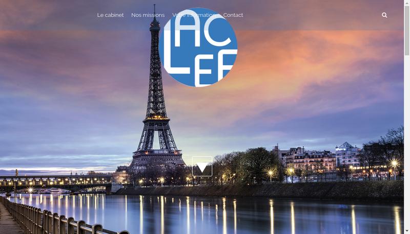 Capture d'écran du site de Lacef