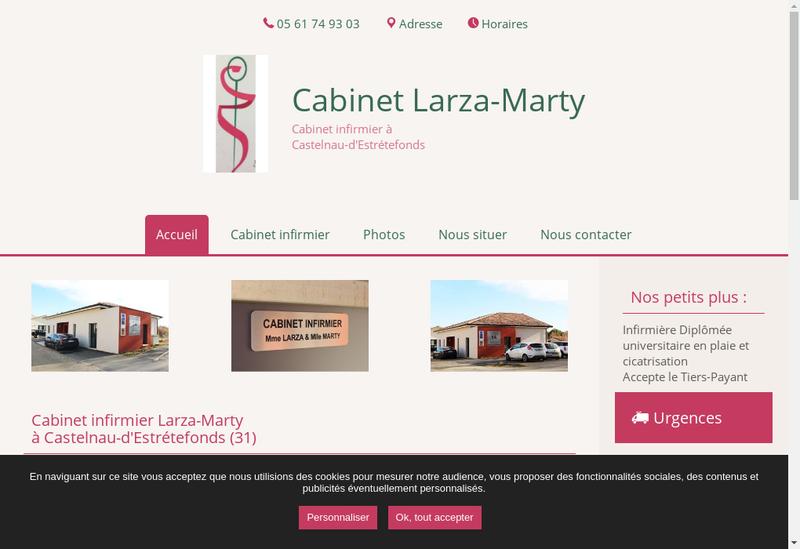 Capture d'écran du site de Elodie Marty