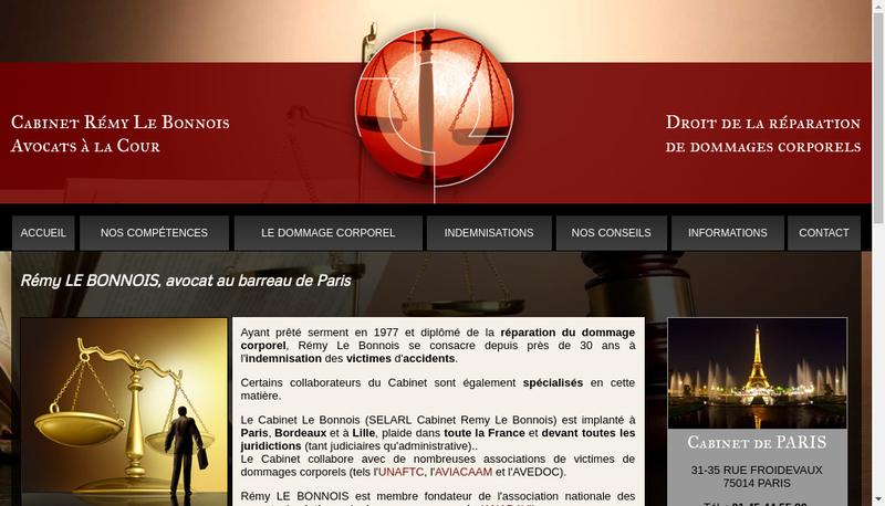 Capture d'écran du site de Cabinet Remy le Bonnois