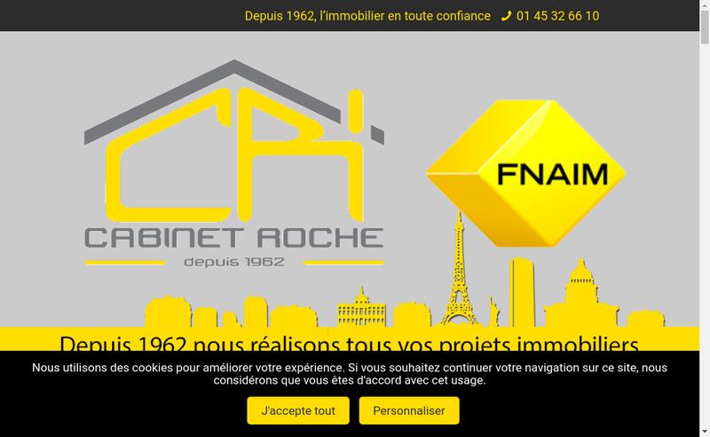Capture d'écran du site de Cabinet Roche