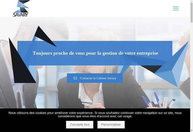 Capture d'écran du site de Cabinet Savary