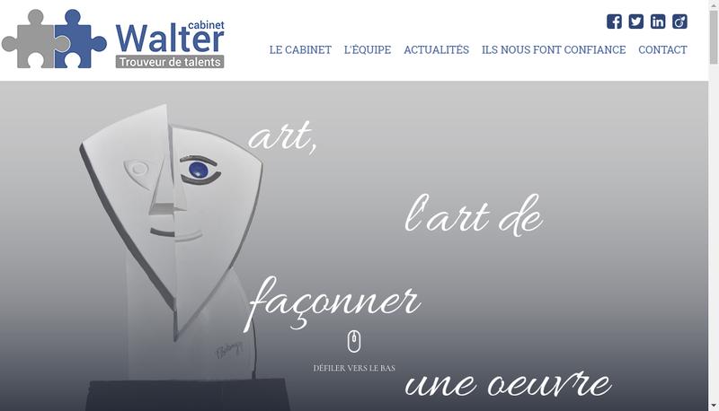 Capture d'écran du site de Cabinet Walter