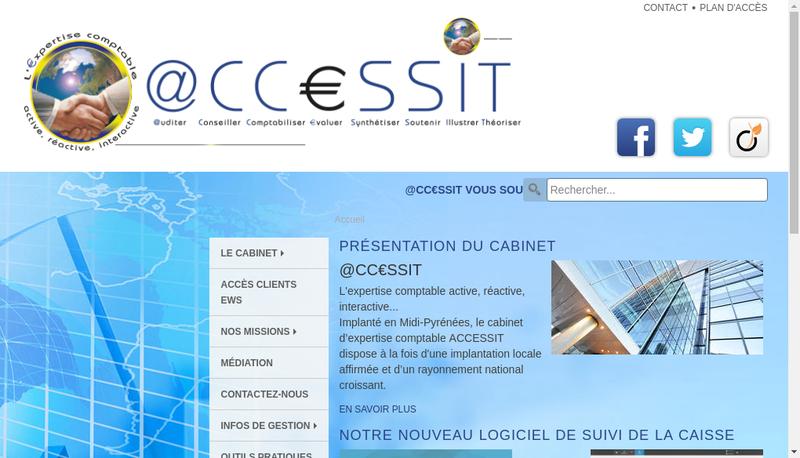 Capture d'écran du site de @Ccessit