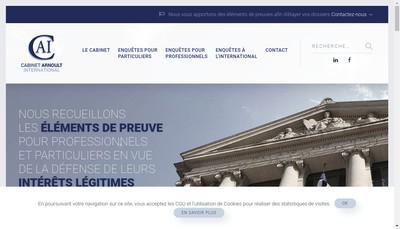 Site internet de Cabinet Arnoult
