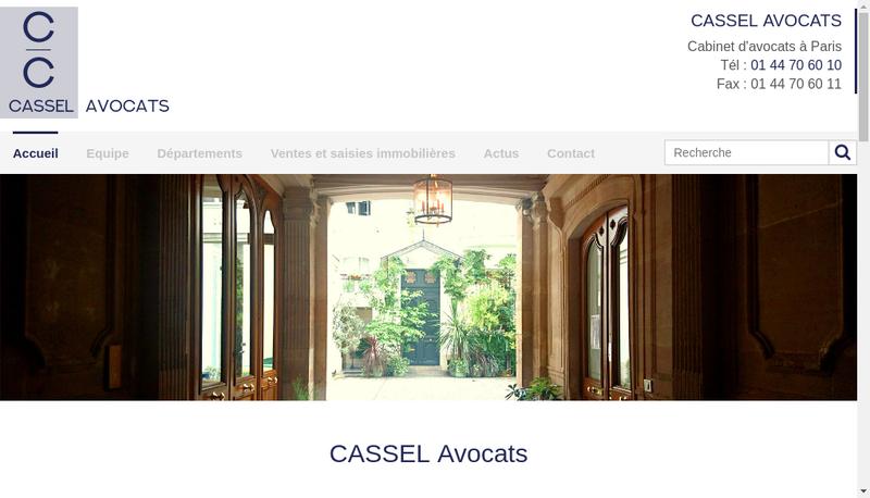 Capture d'écran du site de Cabinet Cassel