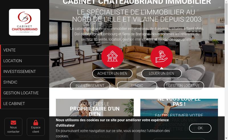 Capture d'écran du site de Cabinet Chateaubriand Immobilier