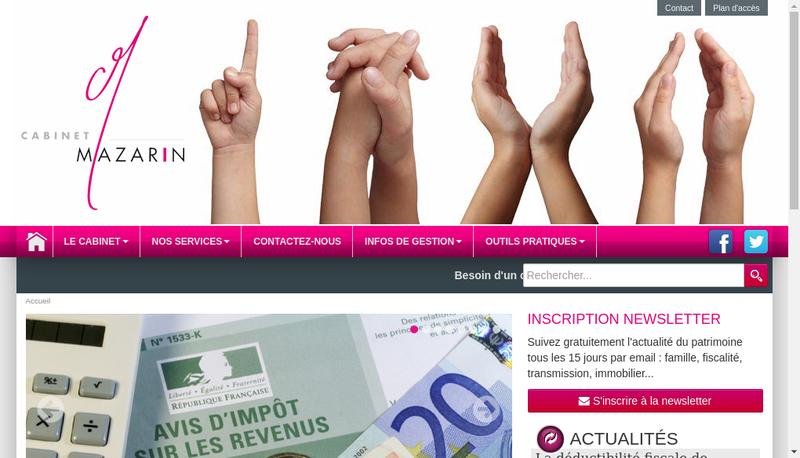 Capture d'écran du site de Cabinet Mazarin