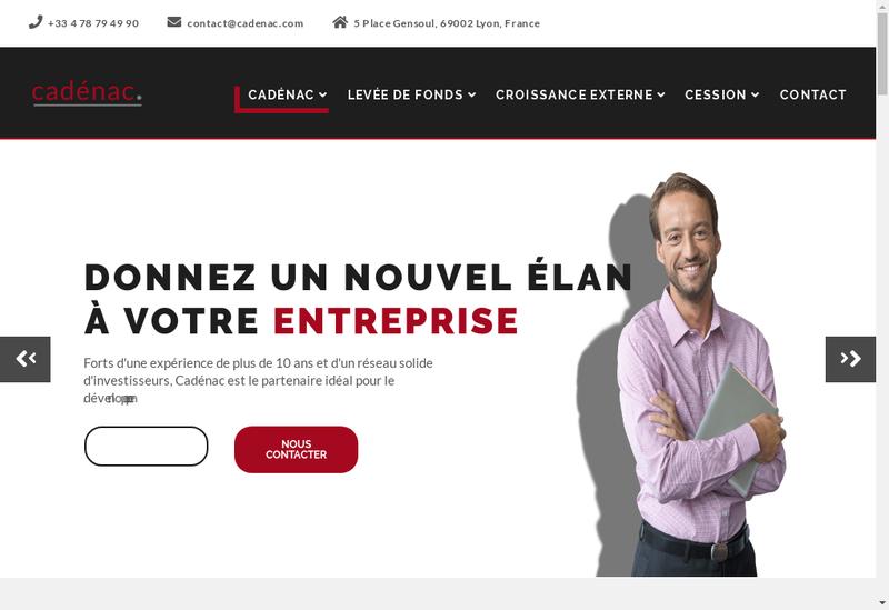 Capture d'écran du site de Cadenac