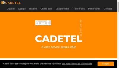 Site internet de Cadetel Ingenierie