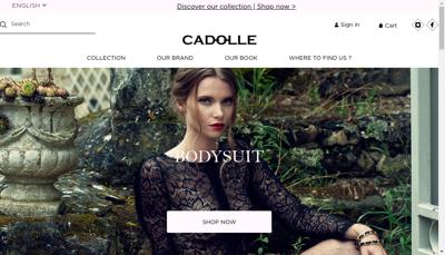 Capture d'écran du site de Cadolle Diffusion