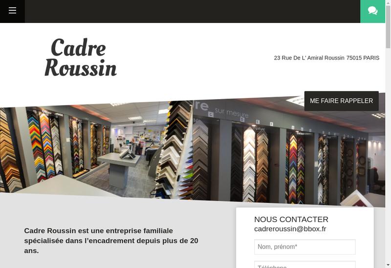 Capture d'écran du site de Cadre Roussin