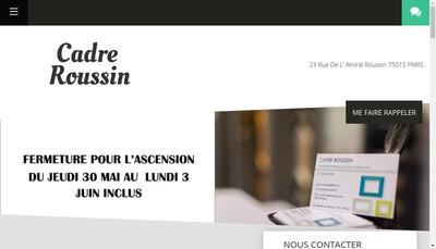 Site internet de Cadre Roussin