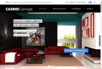 Site internet de Cadres Concept