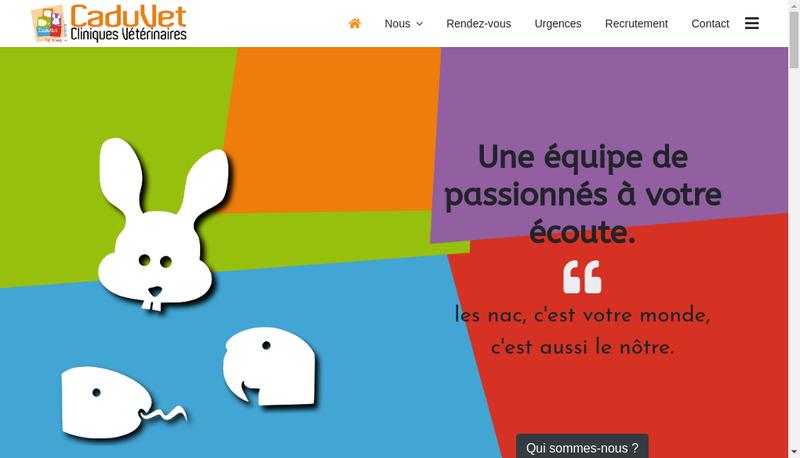 Capture d'écran du site de Caduvet