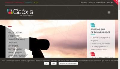 Site internet de SAS Caexis Conseil