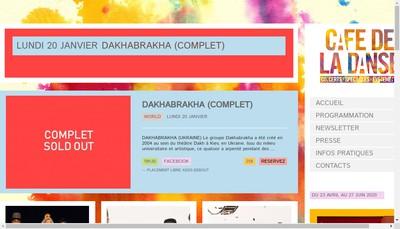 Site internet de Cafe de la Danse