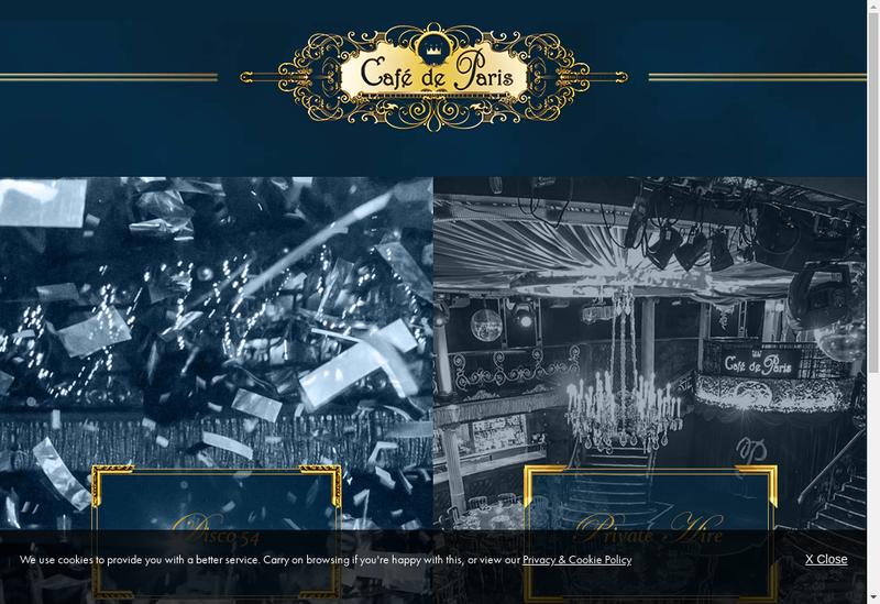 Capture d'écran du site de Cafe de Paris