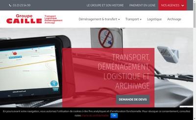 Site internet de SAS Caille Logistique
