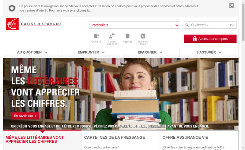 Capture d'écran du site de BPCE