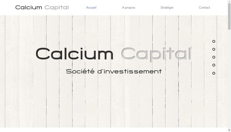 Capture d'écran du site de Calcium Capital