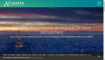 Site internet de Calista