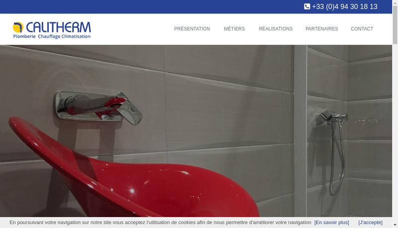Capture d'écran du site de Calitherm
