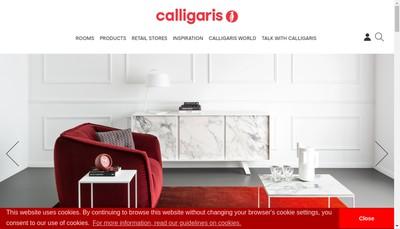 Site internet de Calligaris France